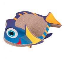 Flamingo Fish Scratching Board Когтеточка из картона для котов 45х27х18 см