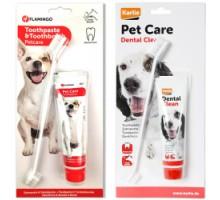 Flamingo Petcare Toothpaste + Toothbrush Набор зубная паста и зубная щетка для собак