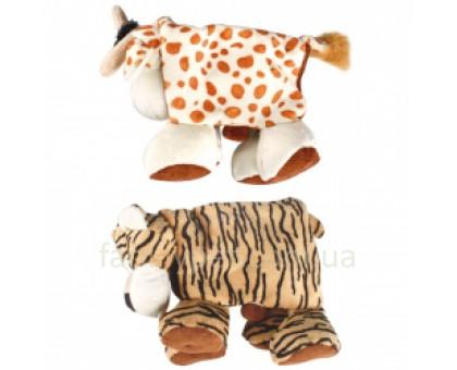 Flamingo Plush Safari Animals Складная мягкая игрушка для собак тигр, корова, плюш