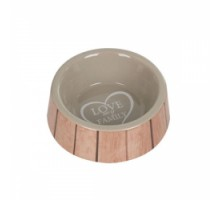 Flamingo Shabby Chic Bowl Heart Миска для собак керамическая