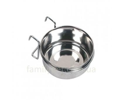 Flamingo Steel Hook Кормушка для кроликов в клетку с держателем нержавейка  0.6 л