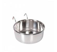 Flamingo Small Animal Bowl Навесная миска для грызунов, кормушка с крючком, нержавеющая сталь
