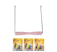 Flamingo Swing Sand Perch Игрушка для птиц качели с песчаной жердочкой 14х1,5 см