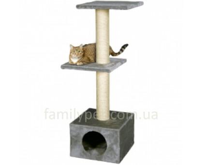 Flamingo Smaragd Grey Когтеточки игровой комплекс для кошек 2 уровня серый