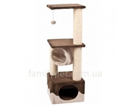 Flamingo Surfer Brown Beige Когтеточка игровой комплекс для кошек с домиком и мячиком