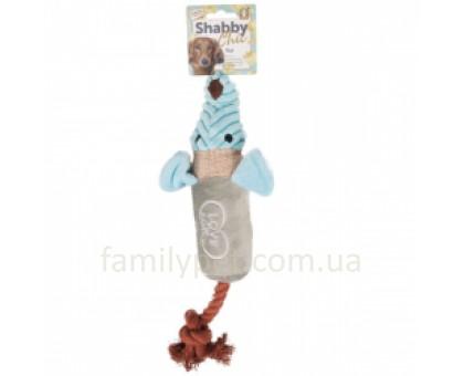 Flamingo Shabby Chic Rat Игрушка для собак c канатом и пищалкой