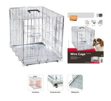 Flamingo Wire Cage Клетка для собак двухдверная с ручкой и выдвижным поддоном