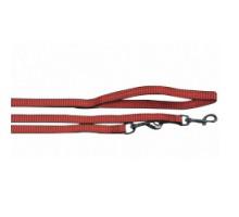 Flamingo Training Lead Q3 Red Поводок перестежка для собак с 2-мя карабинами нейлон красный  2 м 20 мм