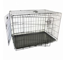 Flamingo Wire Cage Ebo Taupe  2-х дверная клетка для собак металлокерамика 109х70х77см