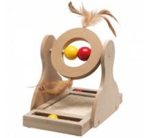 Flamingo Tumbler Игрушка для кошек деревянная 17х20х30 см