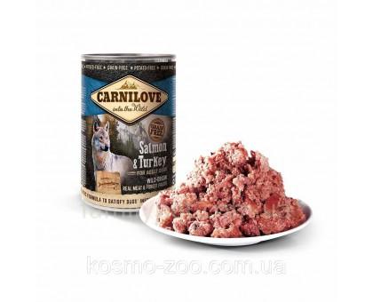 Carnilove Dog Консервы для собак с лососем и индейкой 400 г
