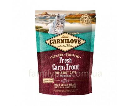 Carnilove Fresh Carp & Trout Sterilised Корм для стерилизованных кошек с карпом и форелью