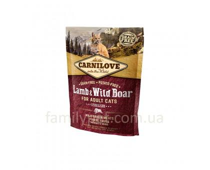 Carnilove Cat Sterilised Корм для стерилизованных кошек с ягненком и кабаном