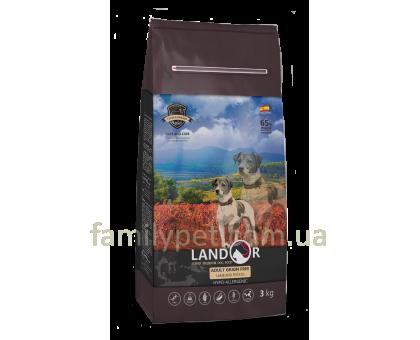 Landor (Ландор) Adult Grain Free Lamb & Potato - Сухой беззерновой корм с ягненком и бататом для взрослых собак всех пород