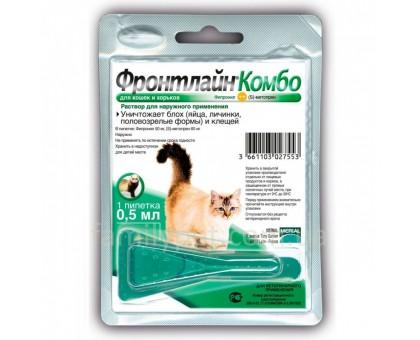 Frontline Combo (Фронтлайн Комбо) Капли для котов от паразитов