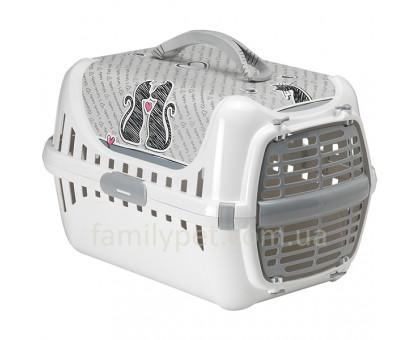 Moderna Trendy Runner Cats In Love Переноска для котов c пластиковой дверцей 49х32х30 см
