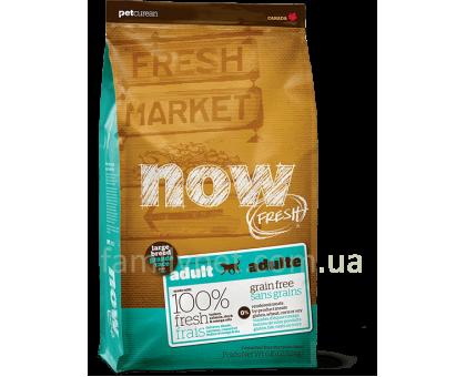 NOW Fresh Adult Large Breed Recipe Grain Free Беззерновой для взрослых собак крупных пород с индейкой, уткой и лососем