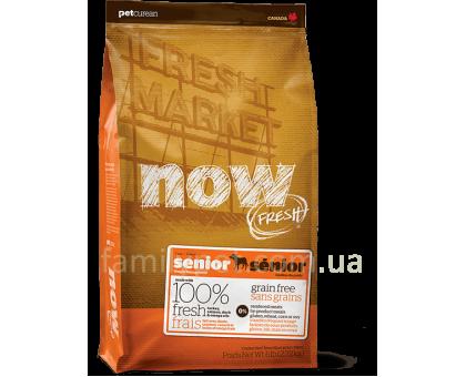 NOW Fresh Senior Recipe Grain Free Контроль веса - беззерновой корм для взрослых собак с индейкой, уткой и лососем