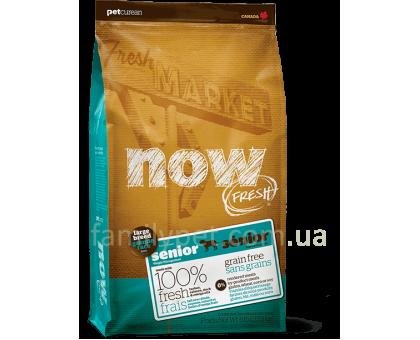 NOW Fresh Senior Large Breed Recipe Grain Free Контроль веса - беззерновой корм для собак крупных пород с индейкой, уткой и лососем