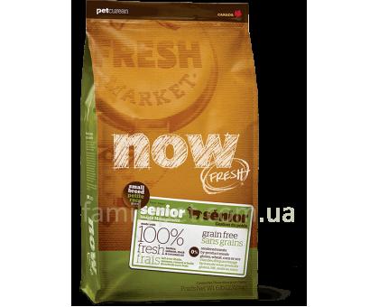NOW! FRESH Senior Small Breed Recipe Контроль веса - беззерновой корм для собак мелких пород с индейкой, уткой и лососем 2,72 кг