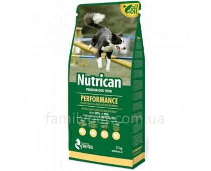Nutrican Performance Сухой корм для активных собак с курицей 15 кг
