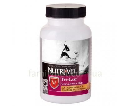 Nutri-Vet Pet Ease Успокаивающее средство для собак в виде жевательных таблеток