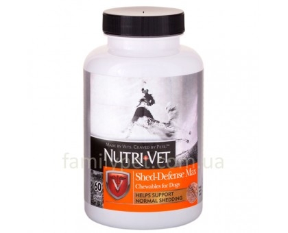 Nutri-Vet Shed Defense Витаминный комплекс для шерсти собак с Омега-3