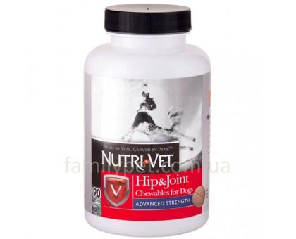 Nutri-Vet Hip&Joint Advanced Витамины связки и суставы 3 уровень для собак с МСМ