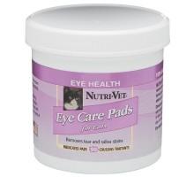 Nutri-Vet Tear Stain Removal cat Влажные салфетки для кошек, от пятен под глазами, вокруг пасти и на лапах