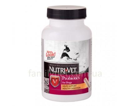 Nutri-Vet Probiotics Пробиотики для собак 60шт