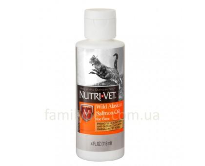 Nutri-Vet Salmon Oil Масло дикого лосося для шерсти кошек 118 мл
