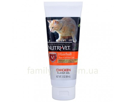 Nutri-Vet Hairball Chicken Добавка для выведения шерсти с курицей