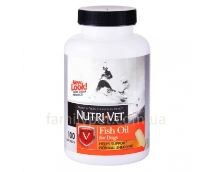 Nutri-Vet Fish Oil Добавка для шерсти собак