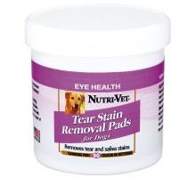 Nutri-Vet Tear Stain Removal dog Влажные салфетки для собак от пятен под глазами, вокруг пасти и на лапах