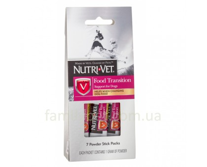 Nutri-Vet Food Transition Support  Добавка для собак с пребиотиками и полезными бактериями при смене корма