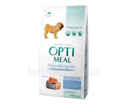 OPTIMEAL Гипоалергенный сухой корм для собак средних пород с лососем