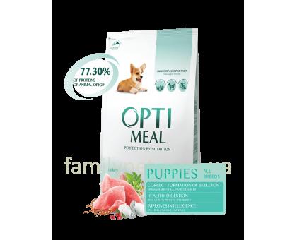OPTIMEAL сухой корм для щенков всех пород с индейкой