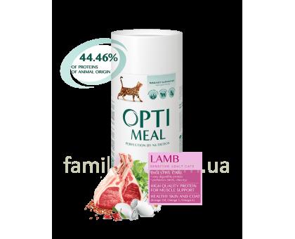 OPTIMEAL Сухой корм для котов с чувствительным пищеварением с ягненком