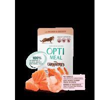 OPTIMEAL Беззерновые консервы для котов с лососем и креветками в соусе 85 г