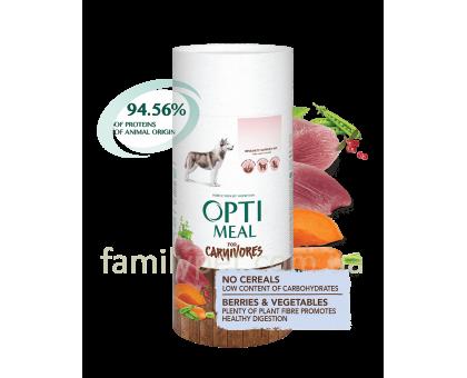 OPTIMEAL Беззерновой сухой корм для собак всех пород - утка и овощи
