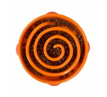 Миска-лабиринт для собак оранжевая Outward Hound Fun Feeder Drop