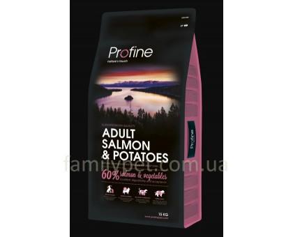 Profine Adult Salmon Сухой корм для собак с лососем и картофелем