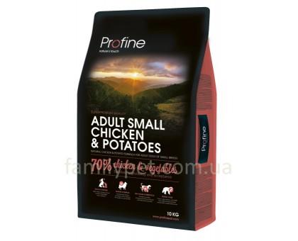 Profine Adult Small Сухой корм для собак мелких пород с курицей и картофелем
