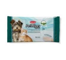 Padovan Pet Wipes Glove Очищающие влажные перчатки с протеинами шелка  5 шт