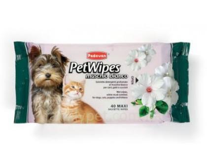 Padovan Pet Wipes Muschio Bianco Очищающие влажные салфетки с белым мускусом