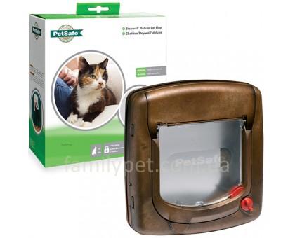 Staywell Дверцы для котов с механическим замком  под дерево