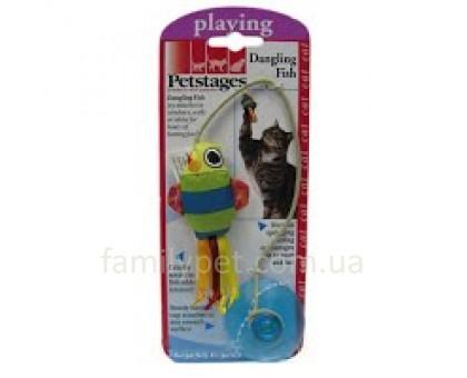 Petstages Игрушка для котов Рыбка на присоской