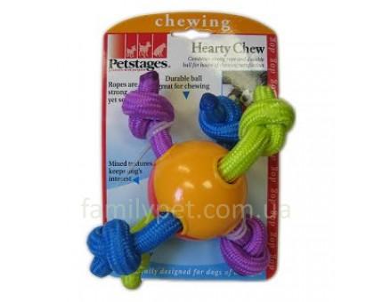 Petstages Игрушка для собак Мячик с канатами