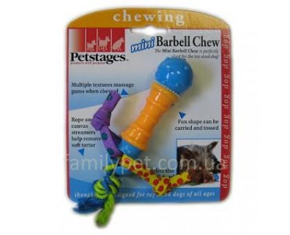 Petstages Игрушка для собак Гантеля мини с канатами