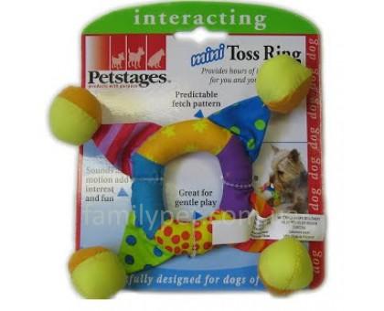 Petstages Игрушка для собак Кольцо погремушка мини